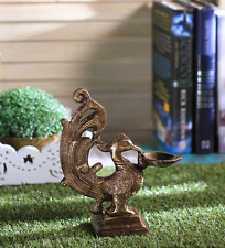 Brass Peacock Deepak Carving Design Peacock Diya Diwali Oil Lamp Decor New
