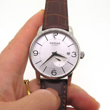 38mm Parnis Miyota Automatic Movement Men's Casual Watch Sapphire Crystal Date