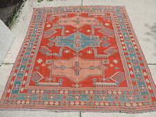 6x7ft. Caucasian Sumak Kilim Akstafa Wool Flatweave Rug