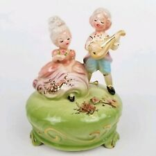 Vtg Japan Josef Originals Music Box Boy Girl Couple Wind Up Plays Melody Of Love