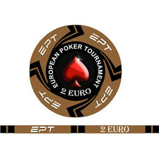 Blister da 25 fiches EPT CASH GAME  Replica poker Ceramica 10 gr. valore 2 EURO