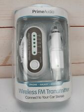 Prime Audio Bluetooth FM Transmitter - Connect to your Stereo NEW