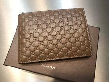 Original GUCCI 292534 GG Microguccissima Leder Wallet mit Münzfach braun NEU/OVP