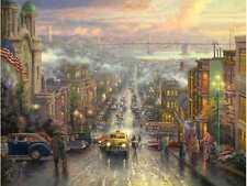 Thomas Kinkade HEART OF SAN FRANCISCO canvas COA signed