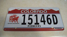 "2000""s Colorado pioneers license plate"