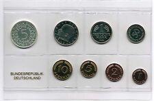 1Pf. bis 5 DM 1969 F, PP Deutschland / BRD / Kurssatz Auflage nur 5100 Stück