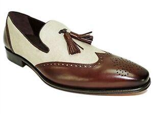 Mezlan Men's Tassel Loafers 18930 Brown/Bone Size 12 M