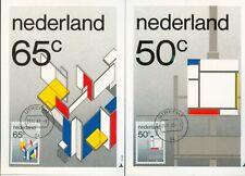Nederland Maximumkaart(en) R59-60 W afgestempeld op 1e dag van uitgifte 1983