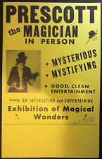 Original Autographed Prescott The Magician Window Card