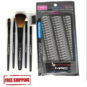 Mac Makeup Brush Set New Mini Kit Brushes Box Bag Authentic Nib Rare Holiday