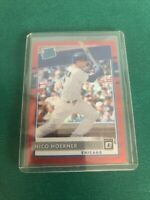 Nico Hoerner 2020 Donruss Optic Rated Rookie Red Wave Prizm SP #38 Chicago Cubs
