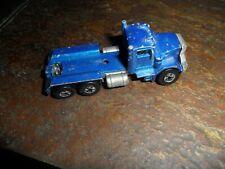 Original Vintage Mattel 1979 Hot Wheels Peterbilt Dump Truck Blue Malaysia