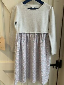 The Little White Company Dress Age 5-6 Knitted Bodice Floral Skirt EUC Beautiful