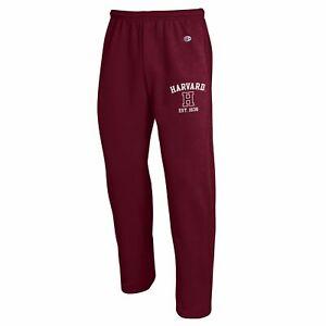 Harvard University Crimson Champion Open Bottom Pant Sweatpants