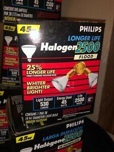 5pcs Philips Halogen 2500 Hours Flood 45w 120v Light bulbs