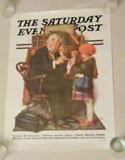 Vintage Saturday evening post lot of 3 posters