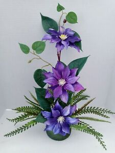 Absolutely Beautiful Artificial Clematis Plant Silk Flowers