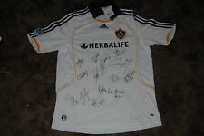 L.A. GALAXY SIGNED 2011 ADIDAS MLS HOME SOCCER JERSEY