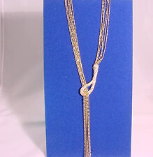 Zirconia Encrusted Hook Detail #N83657/22 Gold Chain Necklace With Cubin