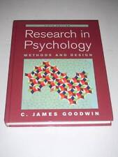 RESEARCH IN PSYCHOLOGY Methods and Design by C. James Goodwin 5e 2007 NEW