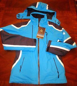 Volkl USA Womens Team Speed Diva Blue Waterproof Ski Snowbord Jacket US 8 Rare