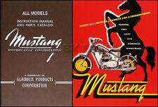1948-1961 Mustang Motorcycle Manual and Brochure Set Owners Repair Shop Parts