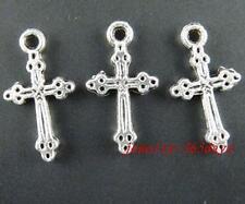 90pcs Tibetan Silver Cross Charms Jewelry DIY 21x11.5mm 22
