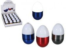 Nachtlicht LED Schlummerlicht Klopflicht Metall Wobble Ei mit neuen Knopfzellen