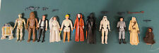 Star Wars Kenner Vintage 1977 12 Back Complete Figure Set Lettered Hilt