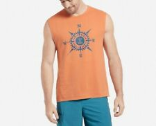 MEN'S LIFE IS GOOD LIG COMPASS SMOOTH MUSCLE TEE T-SHIRT SANDY ORANGE L LARGE