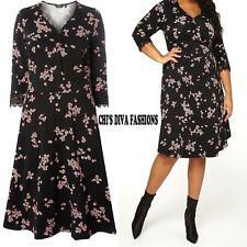 NEW EX DOROTHY PERKINS Curve Floral Print Fit & Flare Skater Dress Sizes 18-28