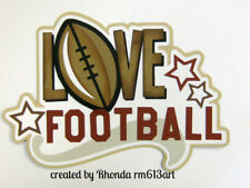 Love Football sport paper piecing title Premade Scrapbook Pages album by Rhonda