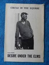 Desire Under The Elms - Circle In The Square Theatre Playbill - 1960 - Miller