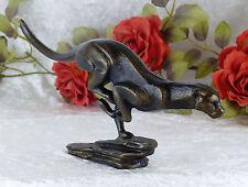 Eisenfigur Leopard Jaguar Skulptur Gepard Gusseisen Figur Raubkatze Bronze Puma