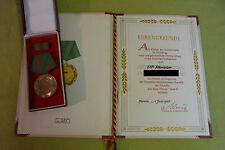 DDR Medaille & Urkunde - VPO - Für treue Dienste - Stufe III - 1955 - VP-Meister