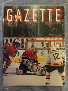Patrick Roy Signed Gazette July 1991 Issue 1