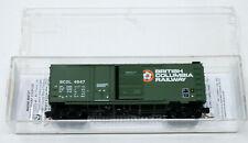 Micro-Trains Line MTL 22080 N Plug SD Box Car British Columbia BC RAIL BCOL 4947