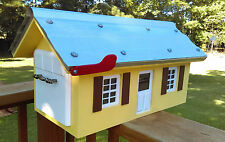 Custom Wood Mailbox Metal Roof. Any Color .Matching your home. Weatherproof.