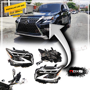 FOR LEXUS GX 460 2014-2019 SET FRONT LED HEAD LIGHTS LAMP SEQUENTIAL UPGRADE 21