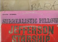 Jefferson Airplane Starship Surrealistic Pillow Bark Red Octopus 3 Lp Lot