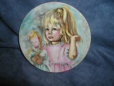 """Haviland Limoges Collectible Plate,""""Pinky and Baby"""" 1976 Edition, Marian Carlsen"""