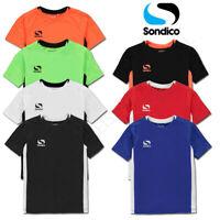 Boys T Shirts SONDICO Junior Sports Tee Kids Football Running Top Age 9 10 11 12