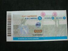 Biglietto S.S.C Napoli Lecce LEGA NAZIONALE 2001 stadio San Paolo.