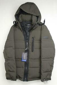 Marc New York Men's Huxley Crinkle Down Jacket with Removable Hood Medium Green
