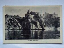 TRIESTE DUINO il castello Sistiana Dama Bianca dal mare vecchia cartolina