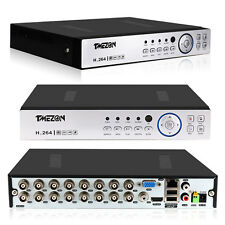 Tmezon AHD 16CH 1080P 3in1 DVR Standalone CCTV Security System 2TB Hard Drive