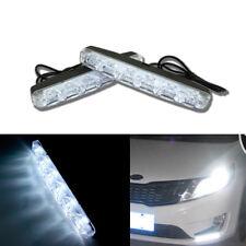 2x Universal 12V 6LED Car Daytime Running Light DRL Day Driving White Fog Lamp