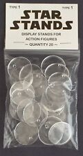 Pack of 20 Star Wars Stands - Vintage Action Figure Display Palitoy Kenner - T1c