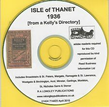 Isle of Thanet 1936 CD [Kelly's Directory]