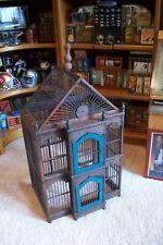 Vintage Victorian Wood Decorative Ornate Bird Cage